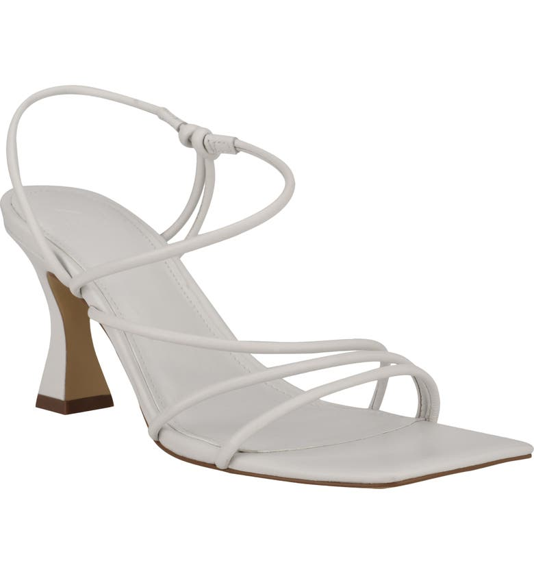 MARC FISHER LTD Dami Strappy Sandal, Main, color, WHITE LEATHER
