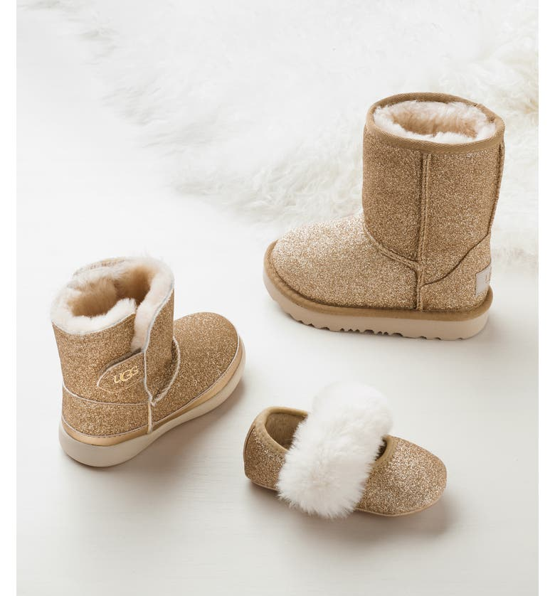 UGG<SUP>®</SUP> Keelan Glitter Genuine Shearling Boot, Main, color, 712