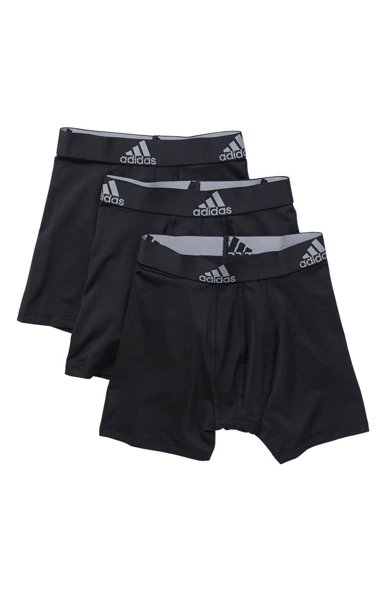 ADIDAS Performance Boxer Brief - Pack of 3, Main, color, BLACK