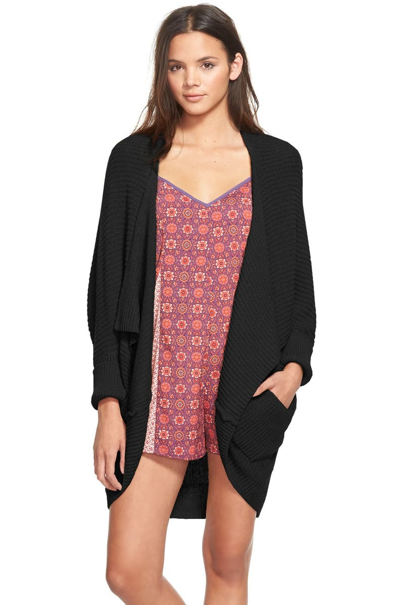 BP. Rib Cocoon Cardigan, Main, color, 001