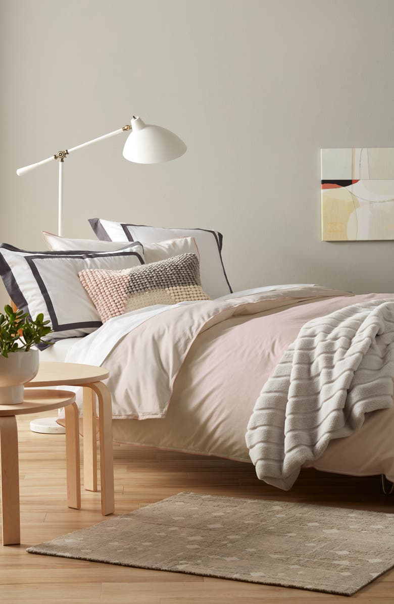 NORDSTROM Solid Reversible Duvet Cover, Main, color, 650