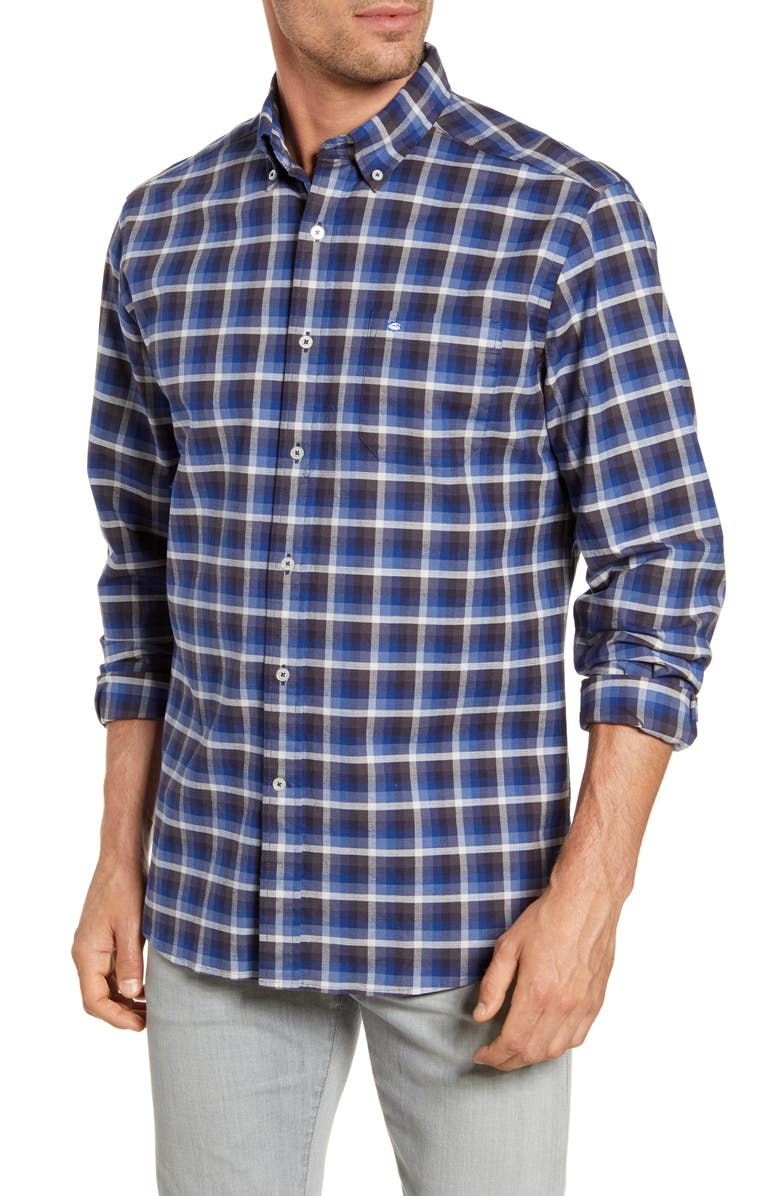 SOUTHERN TIDE Outboard Regular Fit Plaid Button-Down Oxford Shirt, Main, color, 425