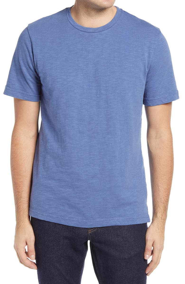 1901 Solid Slub T-Shirt, Main, color, BLUE FJORD