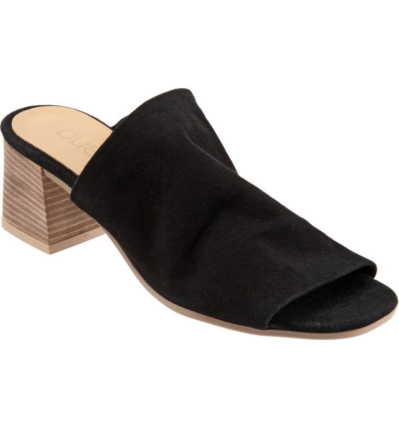 BUENO Emersyn Slide Sandal, Main, color, BLACK SUEDE