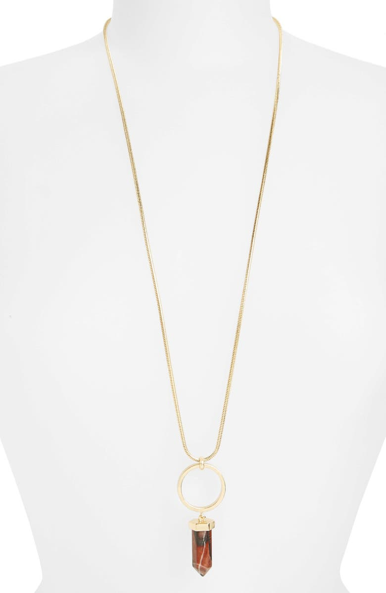 TOPSHOP Ring & Shard Necklace, Main, color, GOLD MULTI