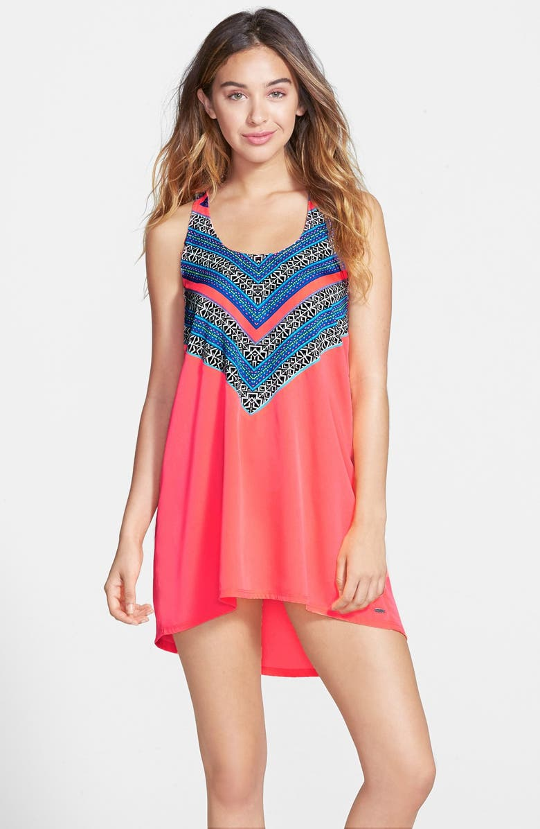 RIP CURL 'Gypsy Queen' Halter Cover-Up, Main, color, HOT CORAL