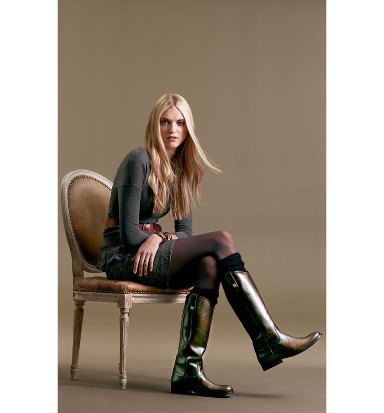 FRYE 'Melissa Button' Leather Riding Boot, Main, color, 002