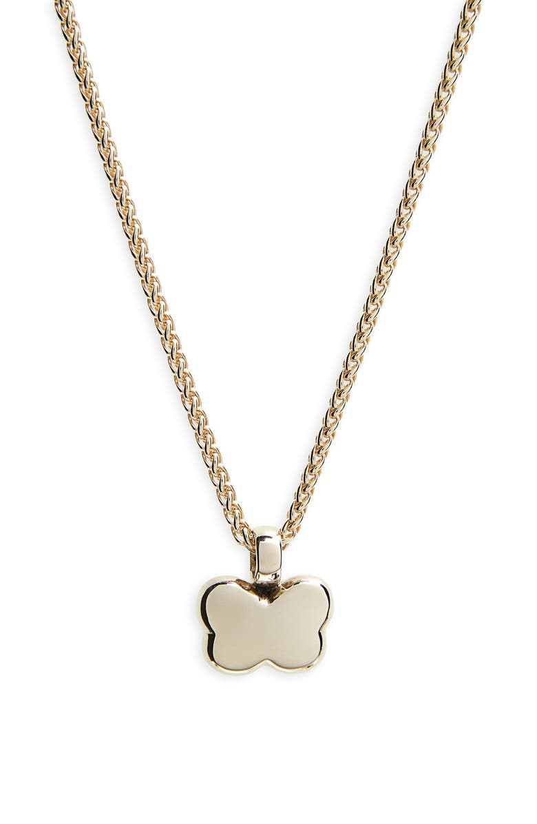 LAURA LOMBARDI Noemi Butterfly Pendant Necklace, Main, color, 14KT GOLD PLATED BRASS