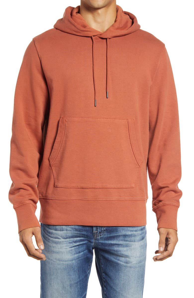 MADEWELL Hooded Sweatshirt, Main, color, AFTERGLOW RED