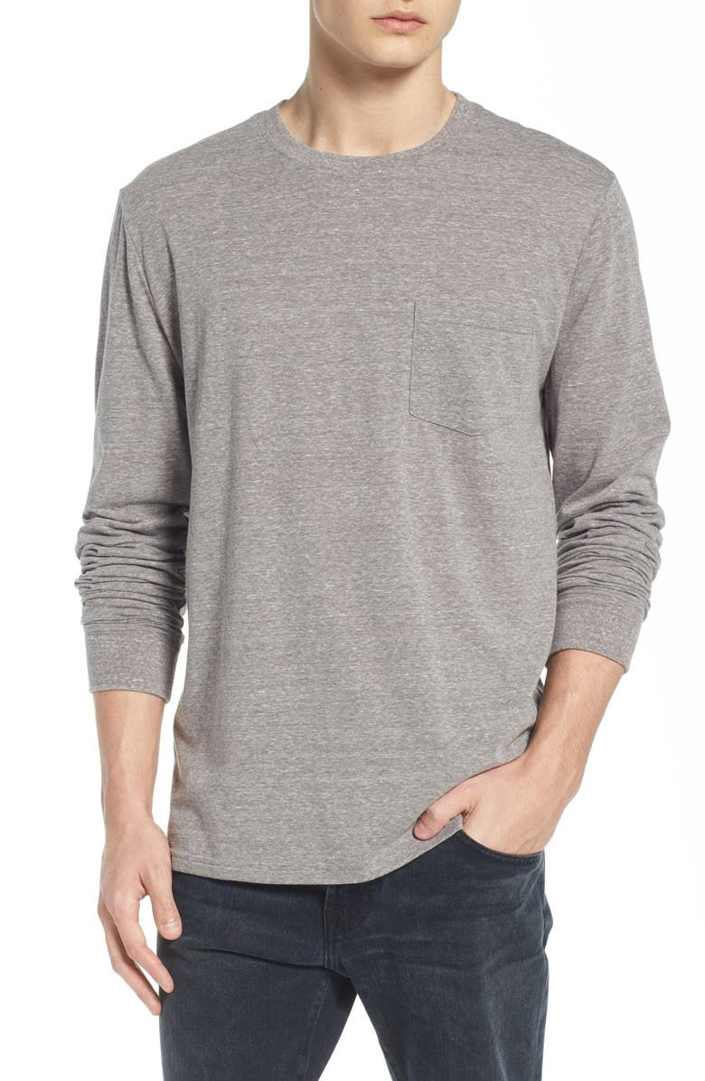 THREADS 4 THOUGHT Threads for Thought Pocket Crew T-Shirt, Main, color, HEATHER GRAY