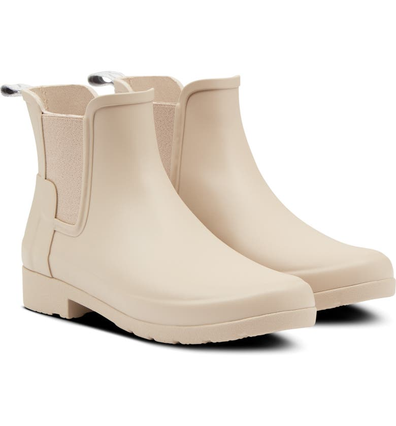 HUNTER Refined Chelsea Boot, Main, color, OAT GRASS