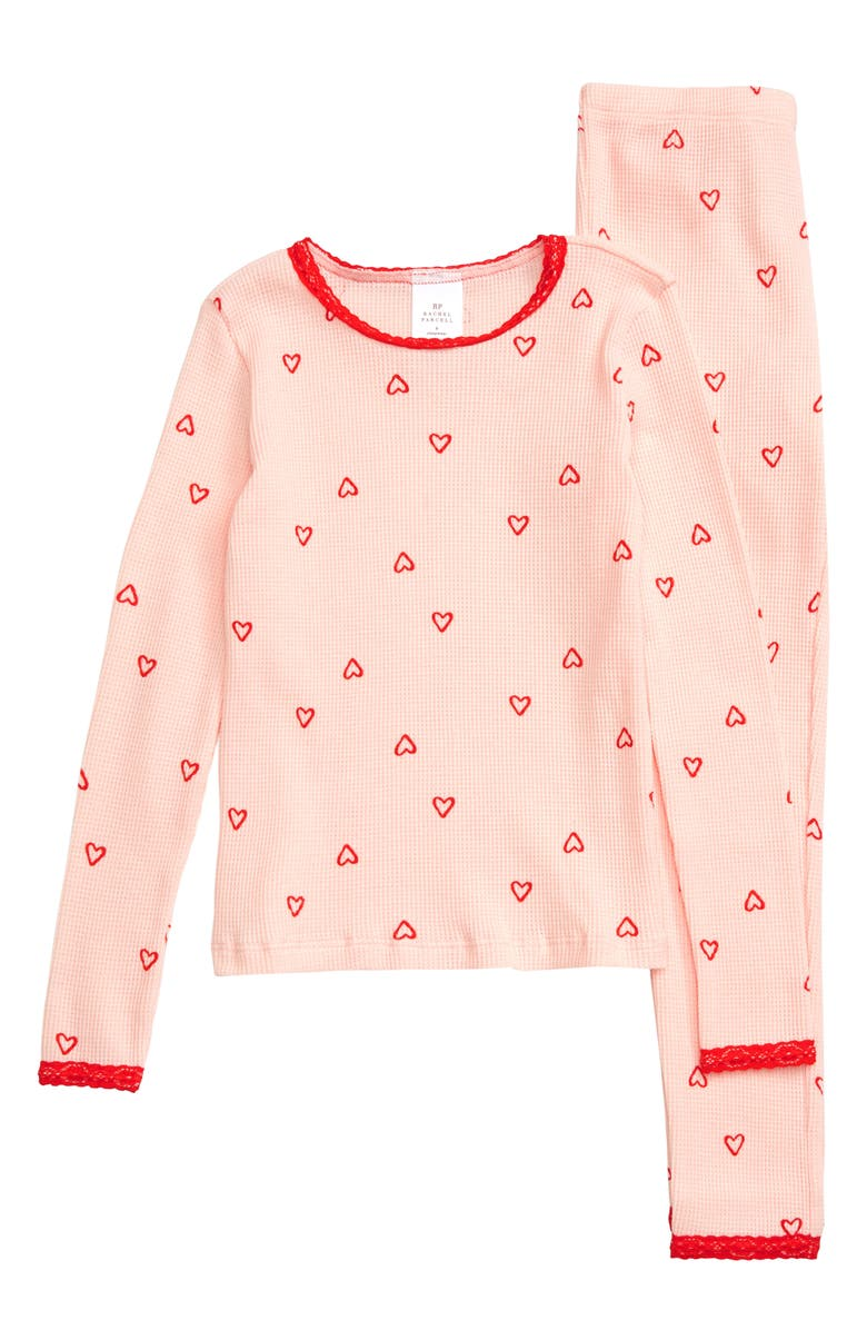 RACHEL PARCELL Thermal Fitted Two-Piece Pajamas, Main, color, 680