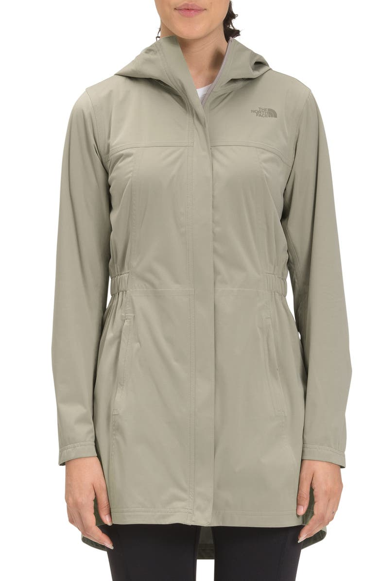 THE NORTH FACE Allproof Stretch Rain Jacket, Main, color, MINERAL GREY