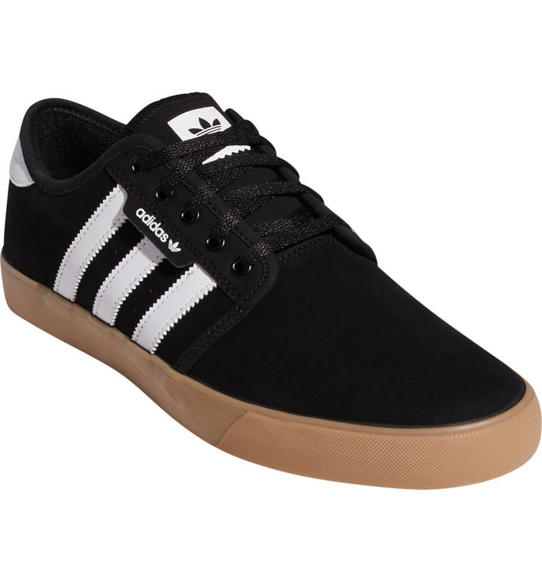 ADIDAS Seeley Skate Sneaker, Main, color, BLACK/ WHITE