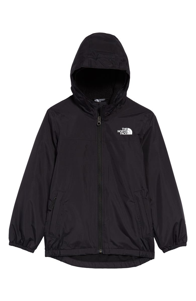 THE NORTH FACE Kids' Warm Storm Waterproof Hooded Jacket, Main, color, TNF BLACK