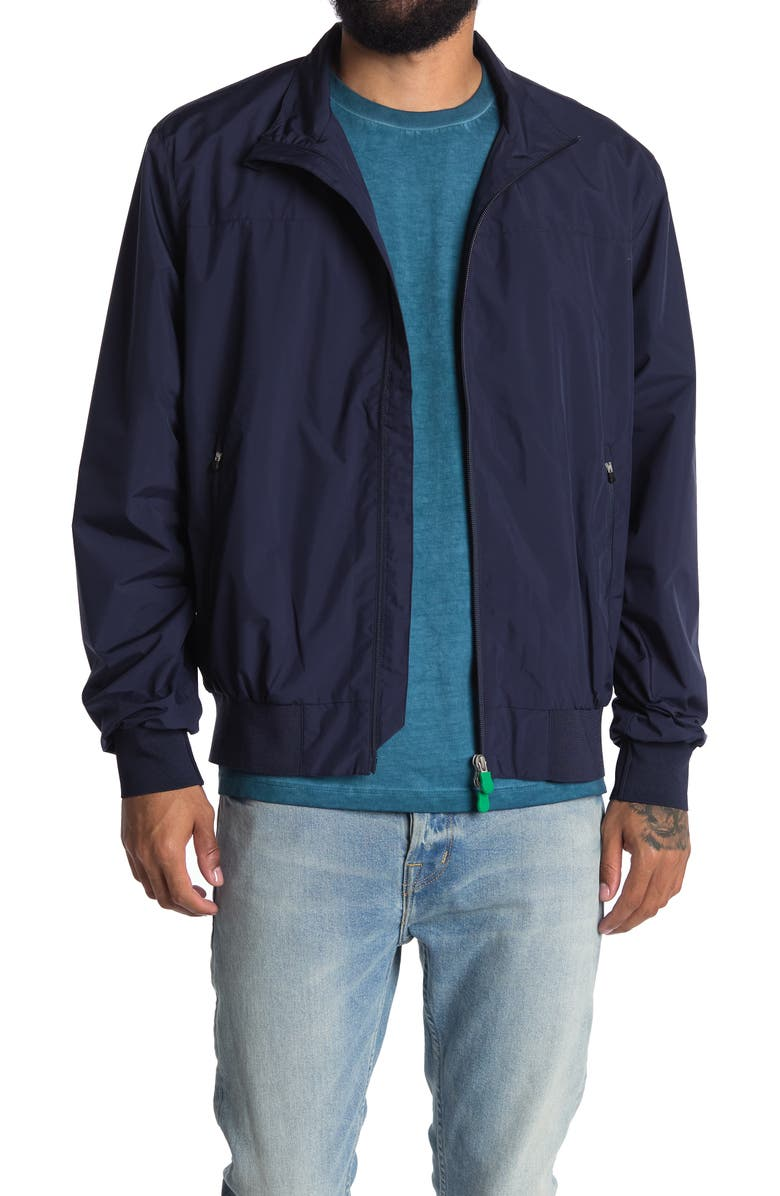 SAVE THE DUCK Joseph Zip Front Bomber Jacket, Main, color, NAVY BLUE