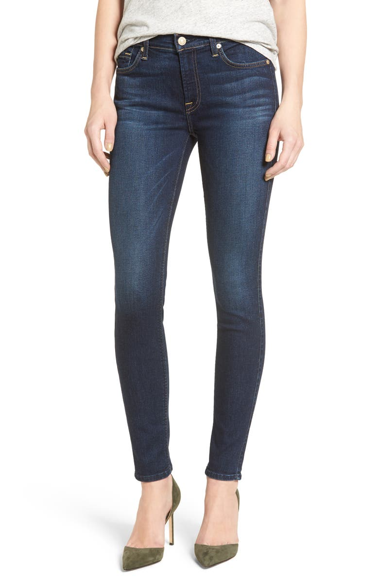7 FOR ALL MANKIND<SUP>®</SUP> Skinny Jeans, Main, color, 401