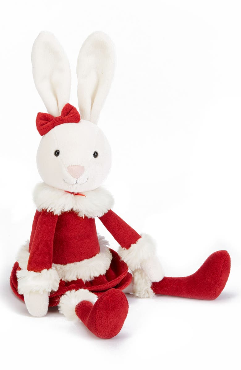 JELLYCAT Christmas Bitsy Bunny Stuffed Animal, Main, color, 600