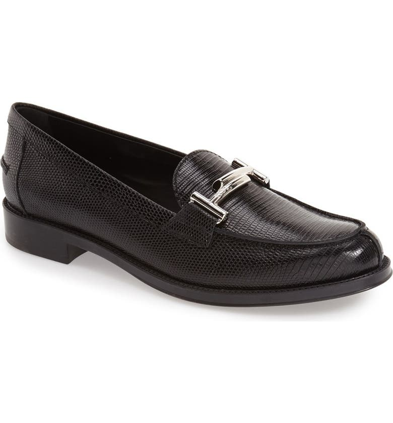 TOD'S 'Double T' Loafer, Main, color, Black