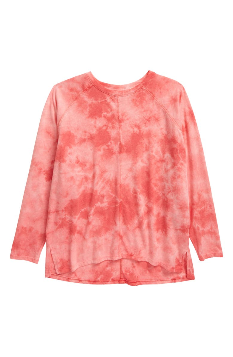 ZELLA GIRL Kids' Expression Tie Dye Tee, Main, color, PINK PARADISE