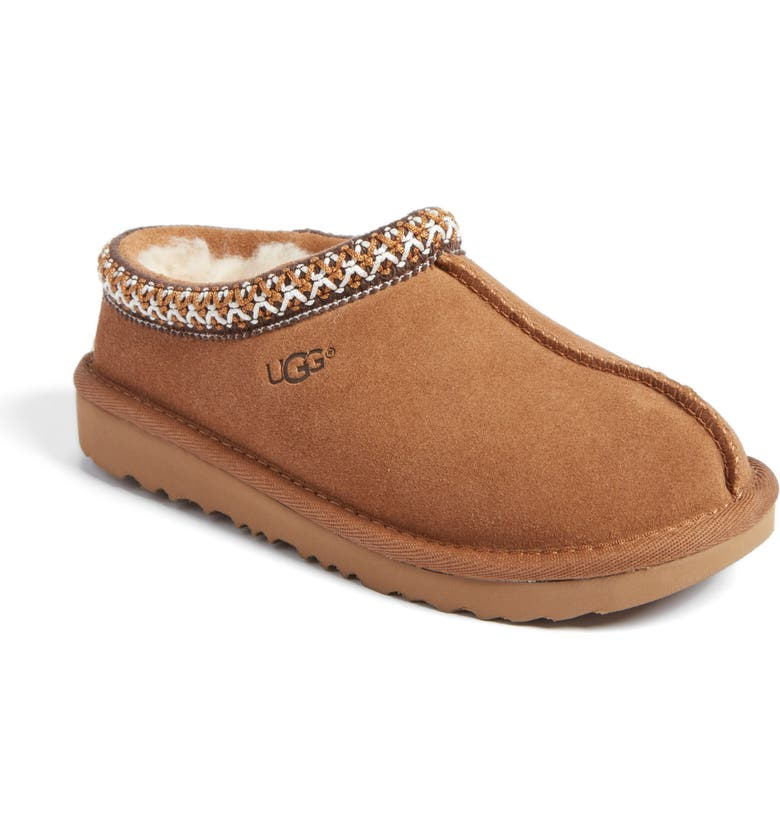 UGG<SUP>®</SUP> K-Tasman II Embroidered Slipper, Main, color, CHESTNUT