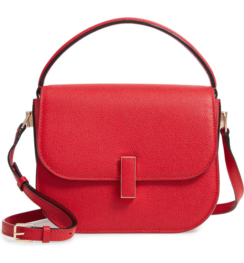 VALEXTRA Iside Leather Top Handle Bag, Main, color, 600