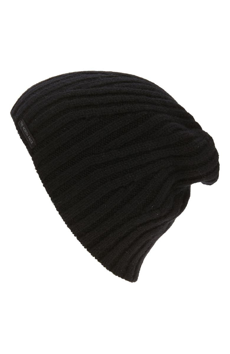 THE NORTH FACE Classic Wool Blend Beanie, Main, color, BLACK