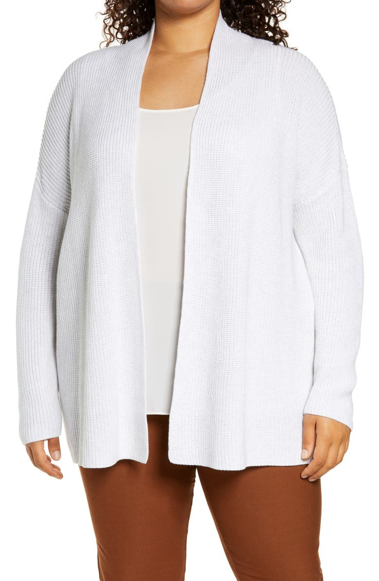 EILEEN FISHER Boxy Cardigan, Main, color, CHALK