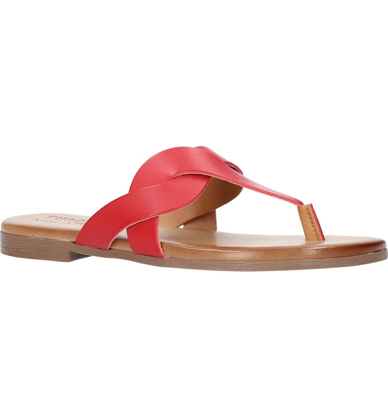 TUSCANY BY EASY STREET<SUP>®</SUP> Abriana Flip Flop, Main, color, RED FAUX LEATHER