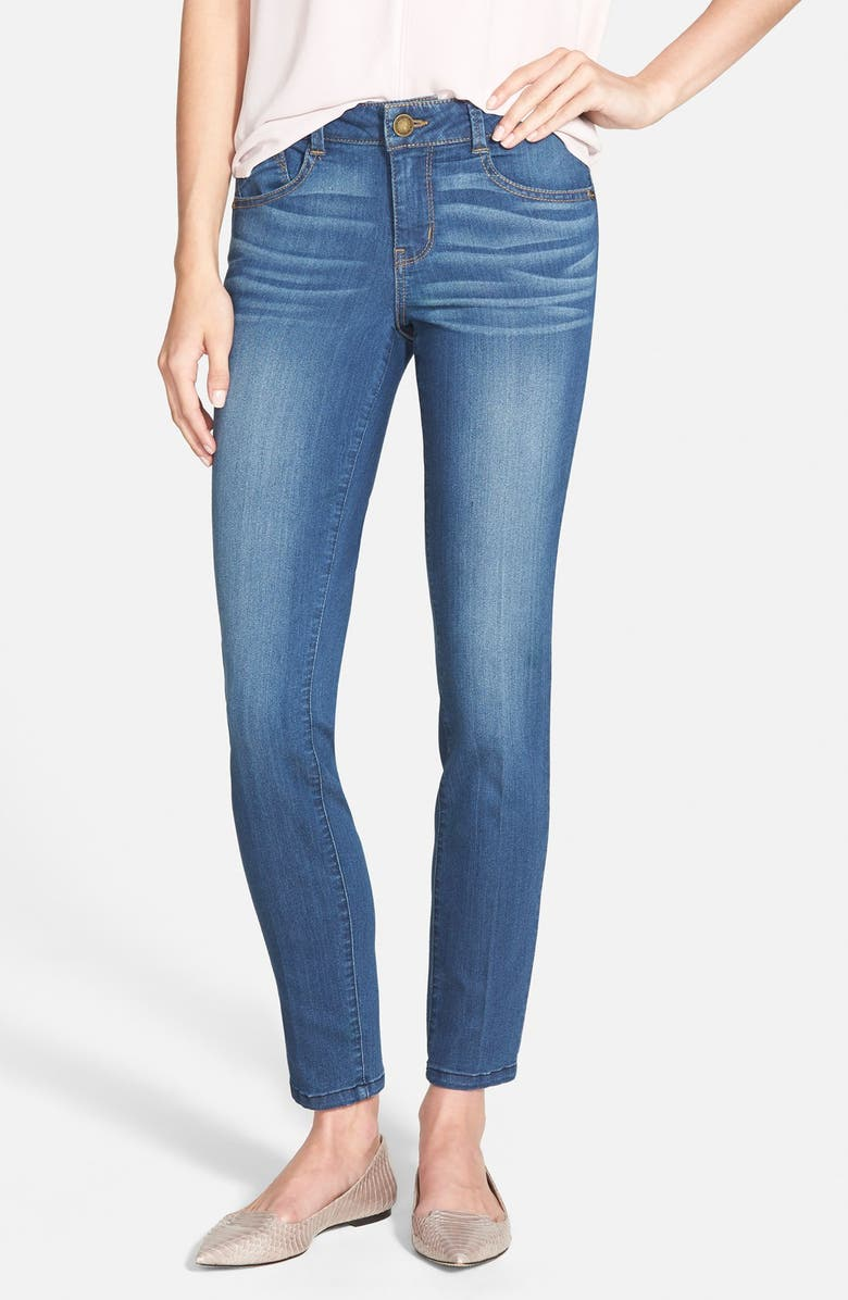 WIT & WISDOM 'Super Smooth' Stretch Skinny Jeans, Main, color, STONE WASH