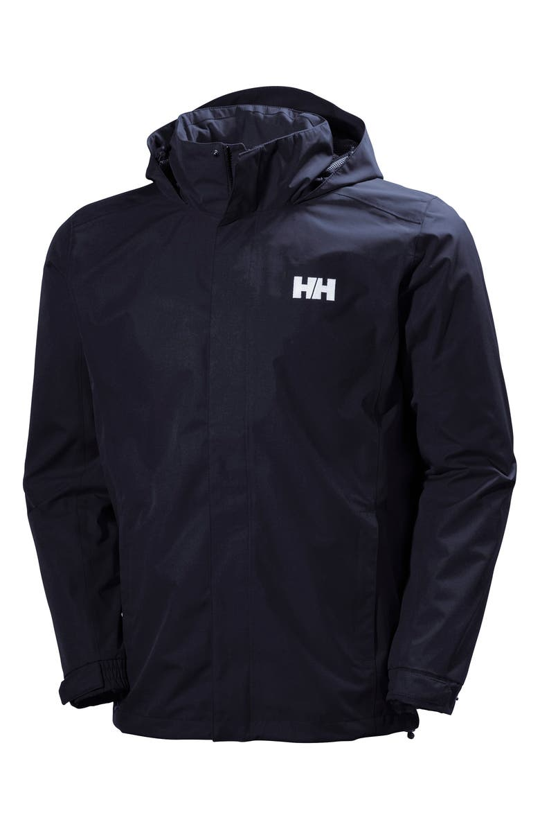 HELLY HANSEN Dubliner Water & Wind Proof Hooded Jacket, Main, color, NAVY