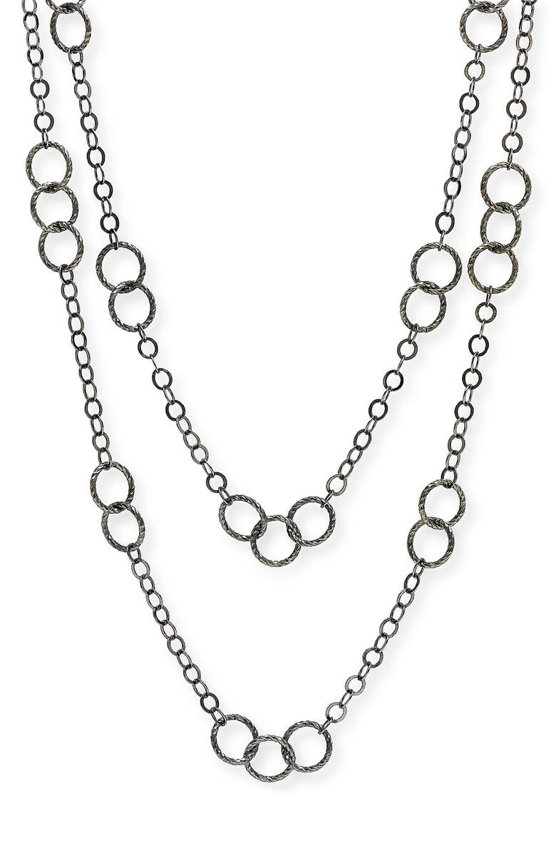NORDSTROM Long Circle Link Necklace, Main, color, 001