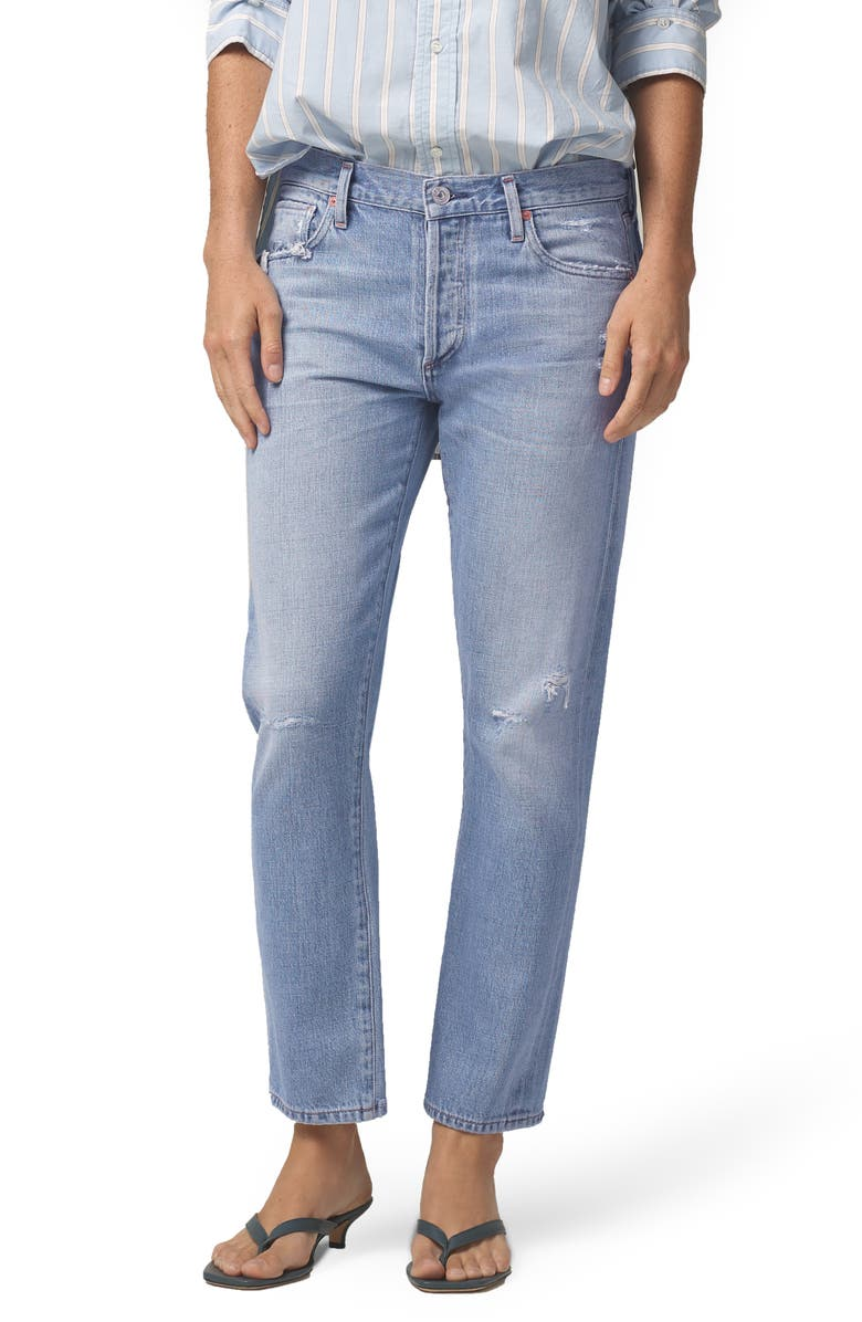 CITIZENS OF HUMANITY Emerson Distressed Slim Fit Boyfriend Jeans, Main, color, 452