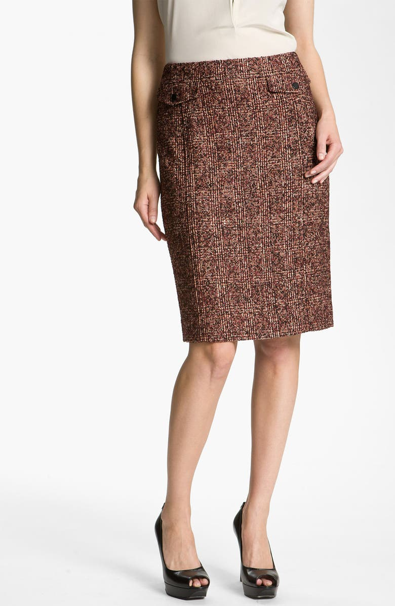 NORDSTROM COLLECTION 'Cambon' Tweed Pencil Skirt, Main, color, 600