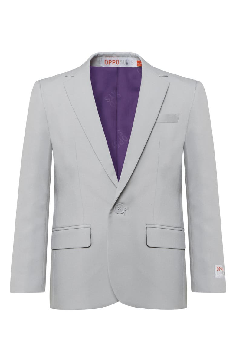 OPPOSUITS Groovy Grey Two-Piece Suit with Tie, Main, color, GREY