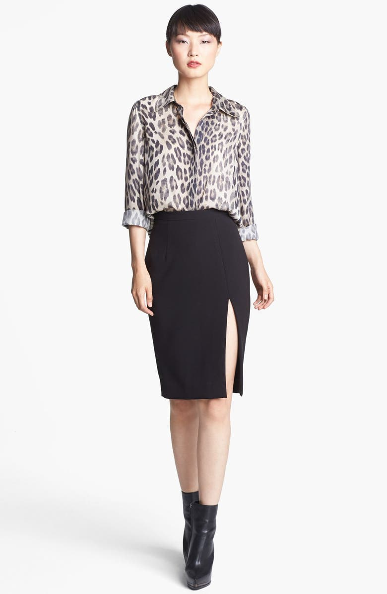 L'AGENCE Leopard Print Blouse, Main, color, 250