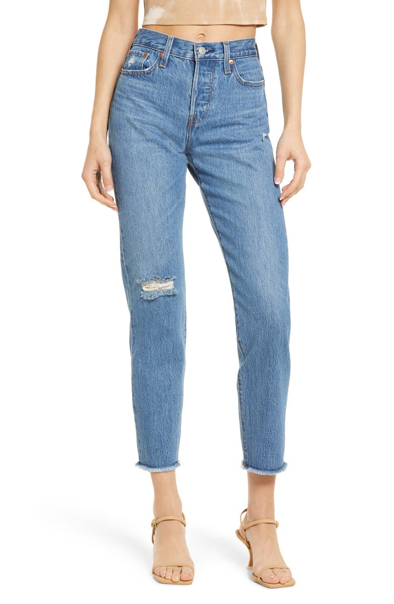 LEVI'S<SUP>®</SUP> Wedgie Icon Fit High Waist Nonstretch Straight Leg Jeans, Main, color, ATHENS HERA