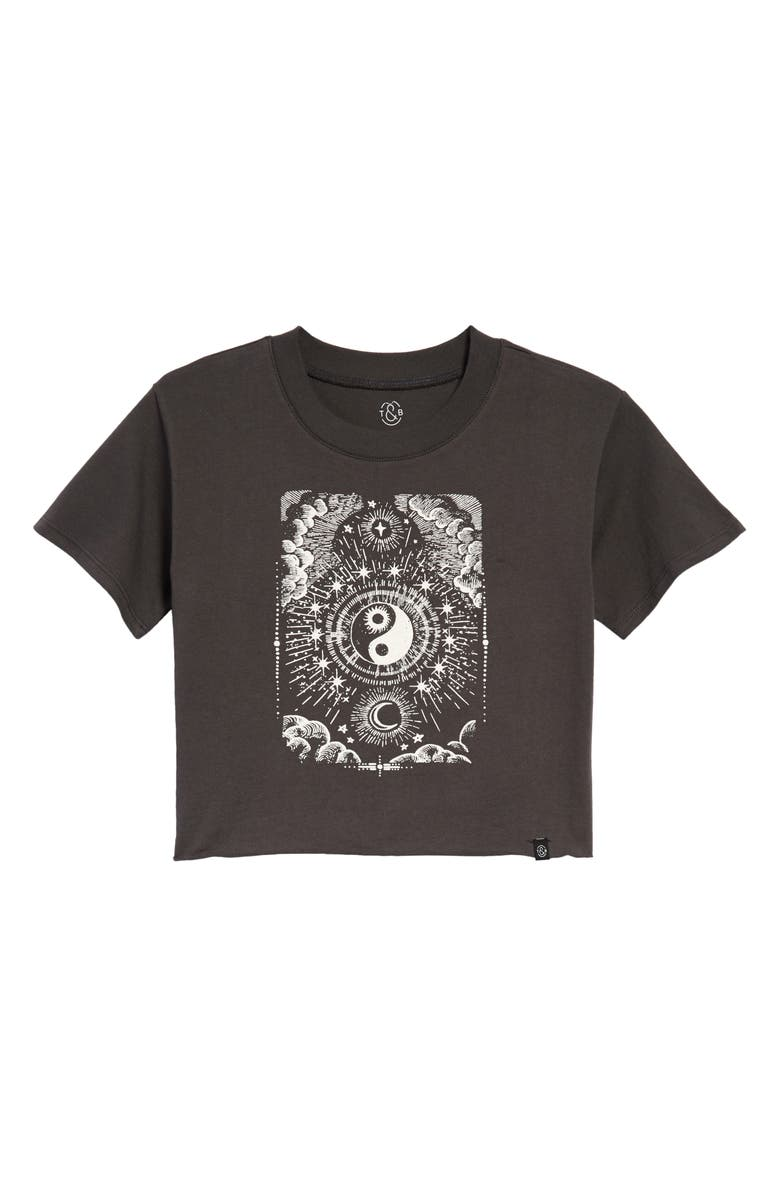 TREASURE & BOND Kids' The Graphic Tee, Main, color, BLACK RAVEN MYSTICAL