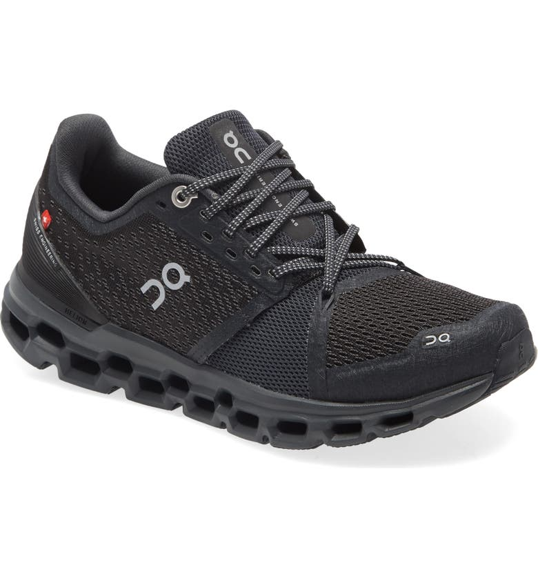 ON Cloudstratus Running Shoe, Main, color, BLACK SHADOW