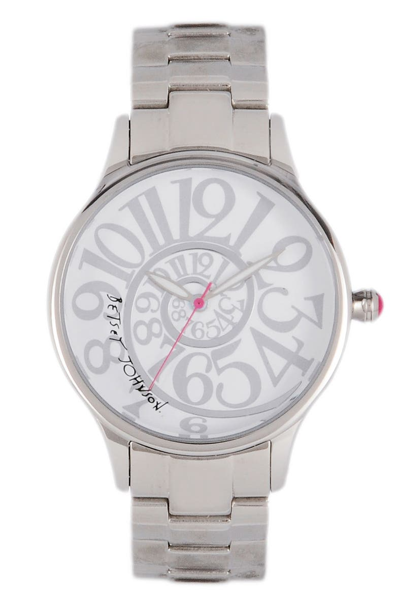 BETSEY JOHNSON 'Lots 'n' Lots of Time' Swirl Dial Watch, 38mm, Main, color, 040