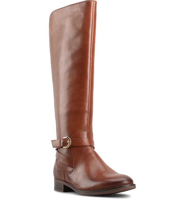 CLARKS<SUP>®</SUP> Hamble Riding Boot, Main, color, DARK TAN LEATHER