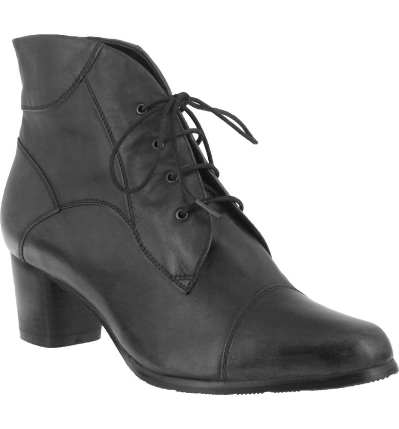 SPRING STEP Larma Bootie, Main, color, BLACK LEATHER
