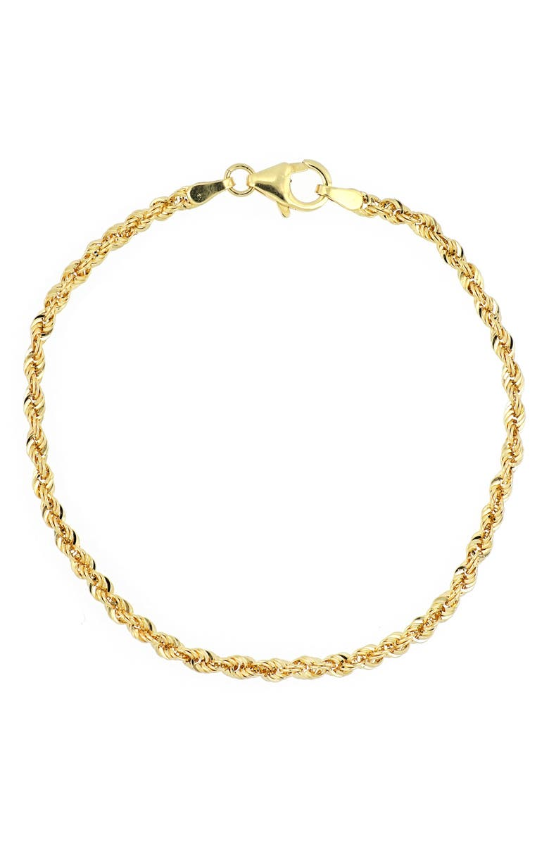 BONY LEVY 14K Gold Rope Chain Bracelet, Main, color, 14K YELLOW GOLD