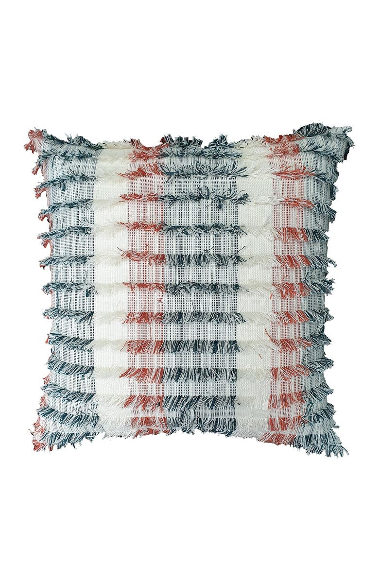 """HOME ESSENTIALS AND BEYOND Multicolor Fringe Pillow - 20"""" x 20"""", Main, color, NONE"""