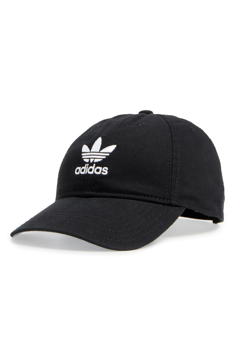 ADIDAS ORIGINALS adidas Trefoil Baseball Cap, Main, color, BLACK