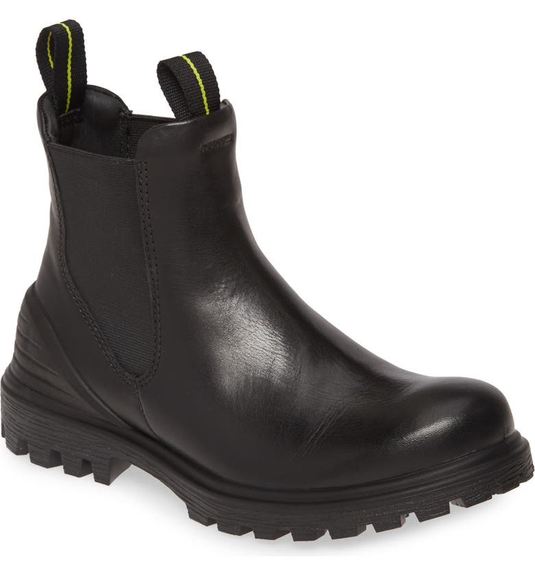 ECCO Tred Tray Chelsea Boot, Main, color, BLACK LEATHER