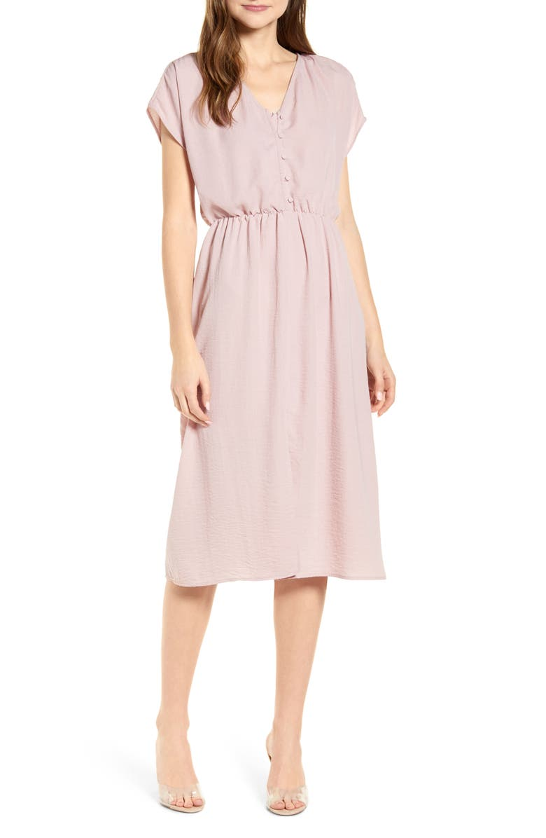 BOBEAU Dolman Sleeve A-Line Dress, Main, color, PALE PINK
