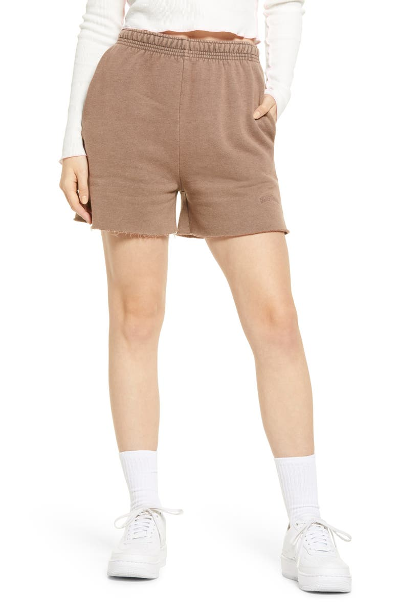 BDG URBAN OUTFITTERS Cotton Jogger Shorts, Main, color, CHOCOLATE