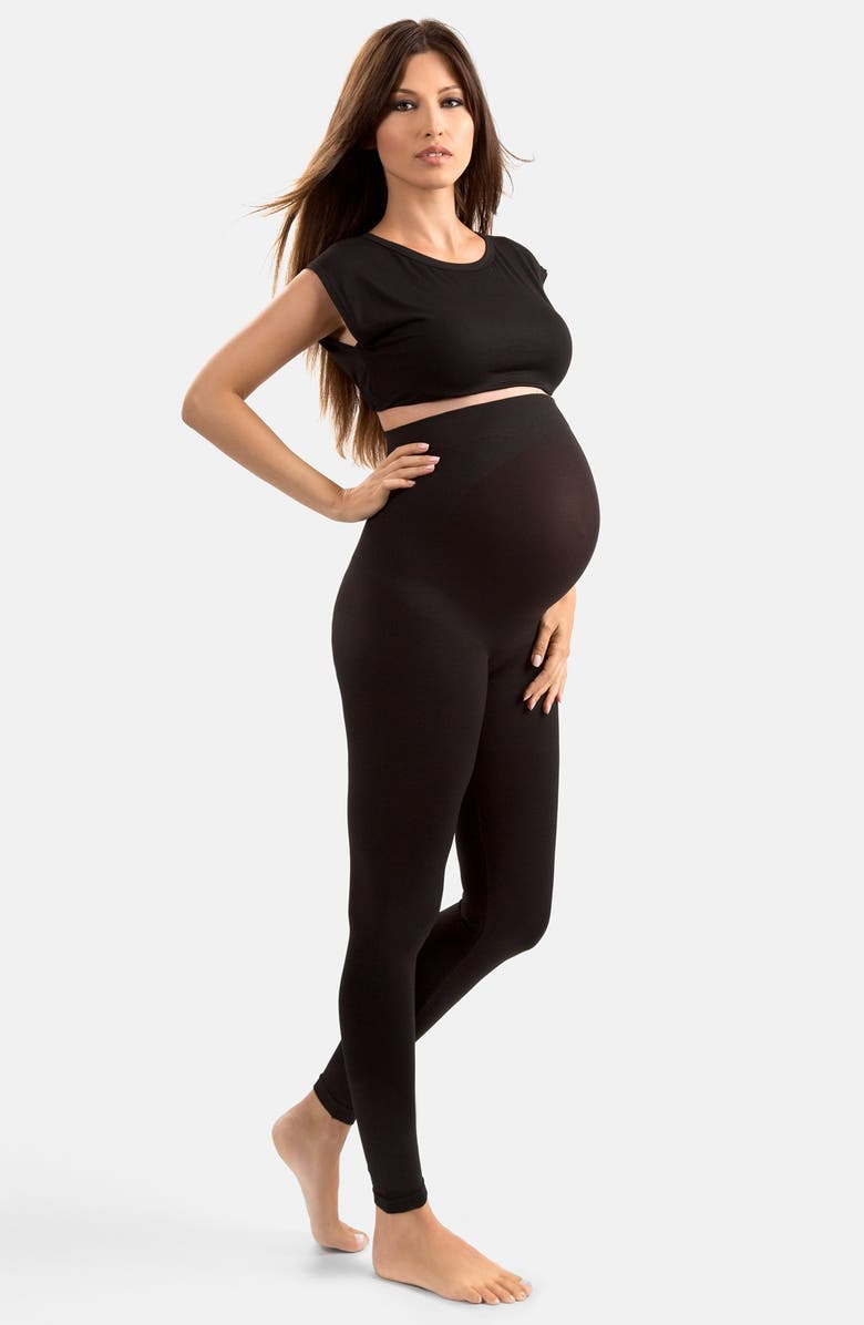 BLANQI 'High Performance' Maternity Belly Lift & Support Leggings, Main, color, 001