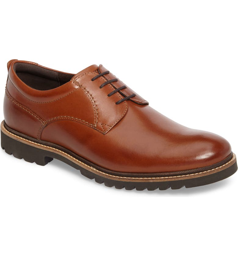 ROCKPORT Marshall Buck Shoe, Main, color, COGNAC LEATHER
